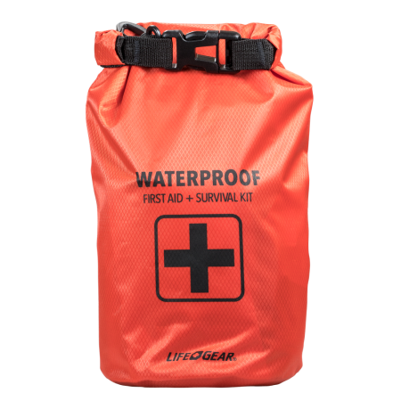130 PIECE DRY BAG FIRST AID AND SURVIVAL KIT
