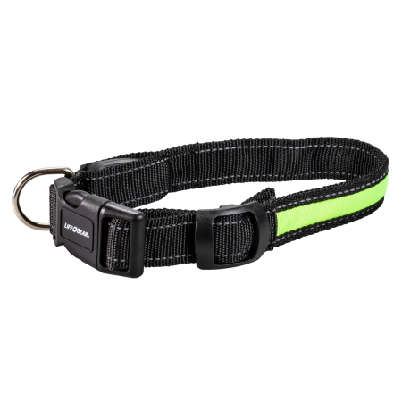 Night Walker Glow LED USB Rechargeable Pet Collar Medium Green