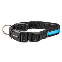 Night Walker Glow LED USB Rechargeable Pet Collar Small Blue