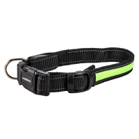 Night Walker Glow LED USB Rechargeable Pet Collar Small Green
