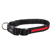 Night Walker Glow LED USB Rechargeable Pet Collar Large Red